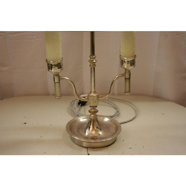 English Style Silver Bouillotte Lamp For Sale - Image 4 of 6