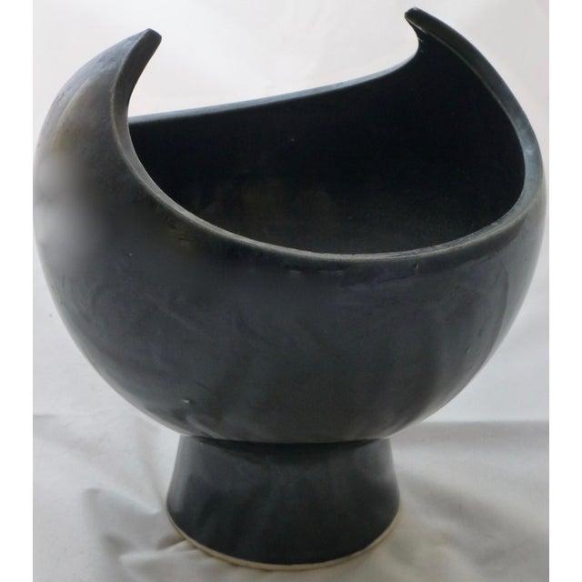 Black Winged Studio Pottery Vase For Sale - Image 11 of 11
