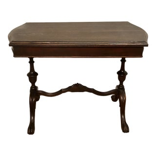 Antique Regency Wooden ClawFooted Side Table For Sale