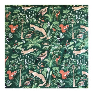 Vintage Brunschwig Fils Animal Forest Cotton Fabric by the Yard For Sale