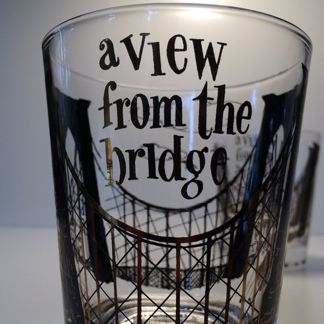 "2 - Hollywood Regency Lo-Ball Glasses ""A View From the Bridge"" - Image 7 of 10"