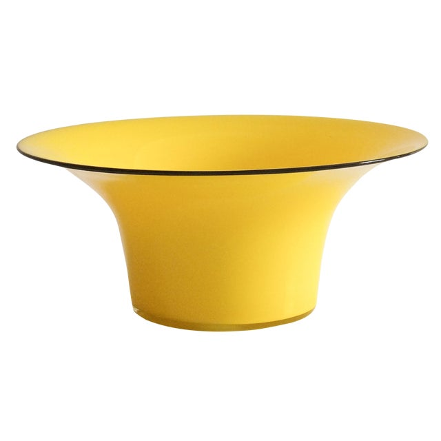 1920's Yellow Glass Bowl - Image 1 of 4