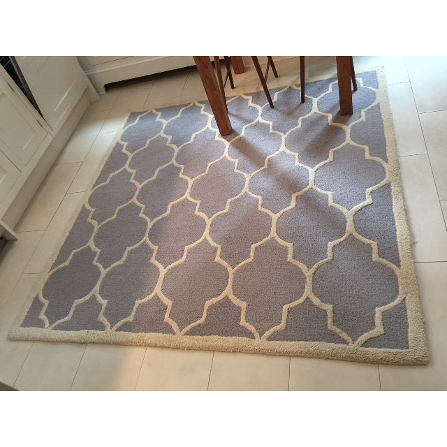 Contemporary Carly Silver & Ivory Contemporary Rug - 6′ × 6′ For Sale - Image 3 of 3