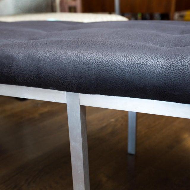 j.g. Furniture Brushed Aluminum Bench - Image 2 of 7