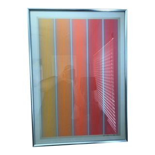 Richard Anuszkiewicz Geometric Abstraction Signed Serigraph For Sale