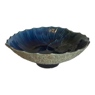 Mid-Century Nautilus Pottery Fruit Bowl