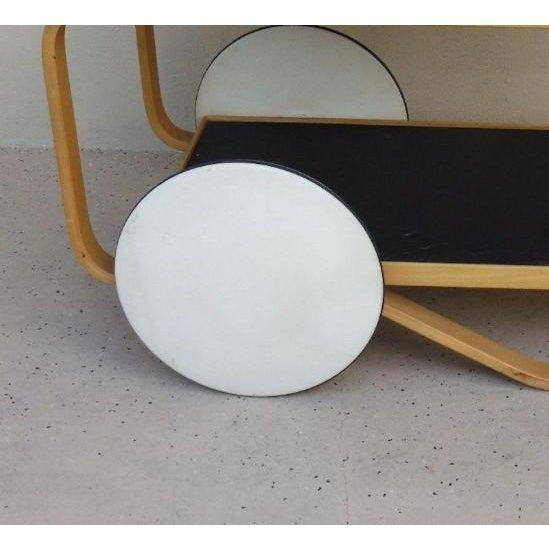 Danish Modern 1960s Danish Modern Alvar Alto Bentwood Tea Cart For Sale - Image 3 of 6