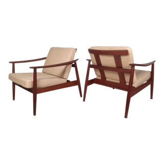 Pair of Midcentury France and Son Adjustable Lounge Chairs by John Stuart For Sale