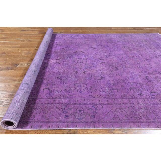 "Purple Overdyed Rug - 8'1 x 11'5"" - Image 6 of 6"