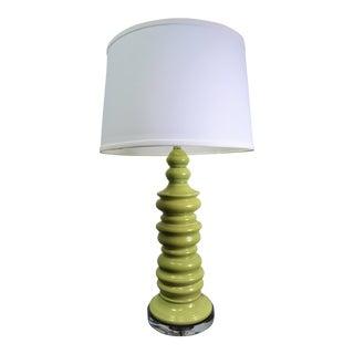 Bungalow 5 Aurora Ceramic Lamp in Light Green For Sale