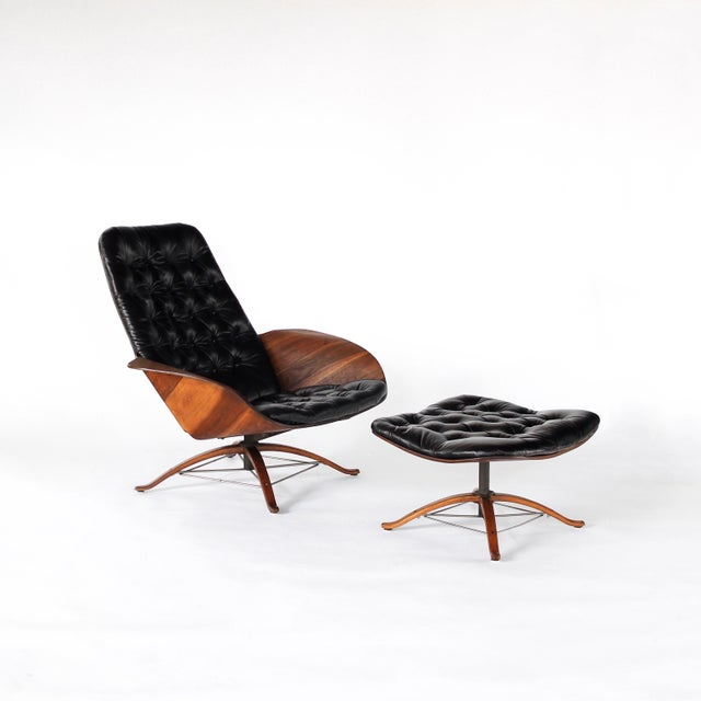 1960s Vintage 1st Edition Mr Chair by George Mulhauser for Plycraft Leather Lounge Chair For Sale - Image 12 of 12