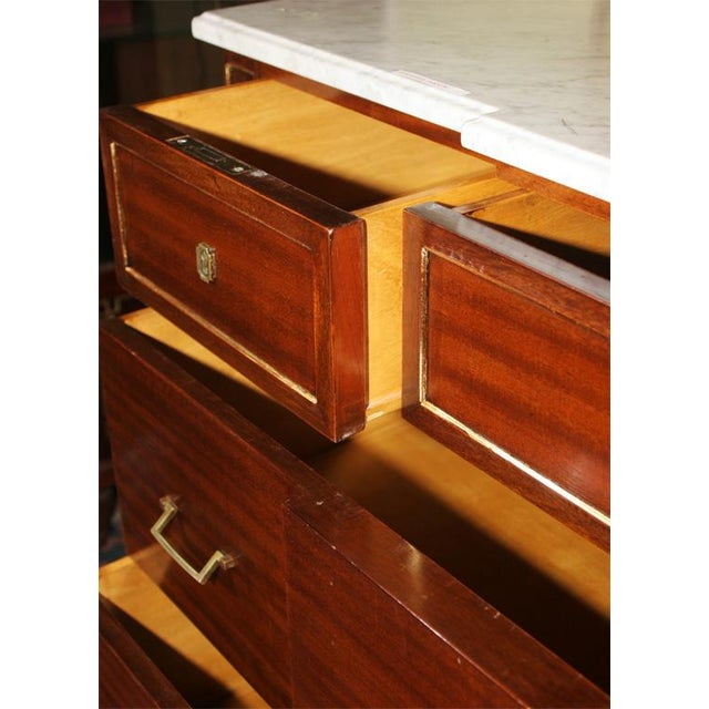 Louis XVI Style Jansen Mahogany Commode For Sale - Image 9 of 9