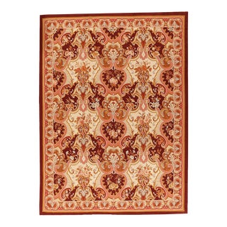"""Pasargad Aubusson Hand Woven Wool Rug - 9' 0"""" X 12' 2"""""""