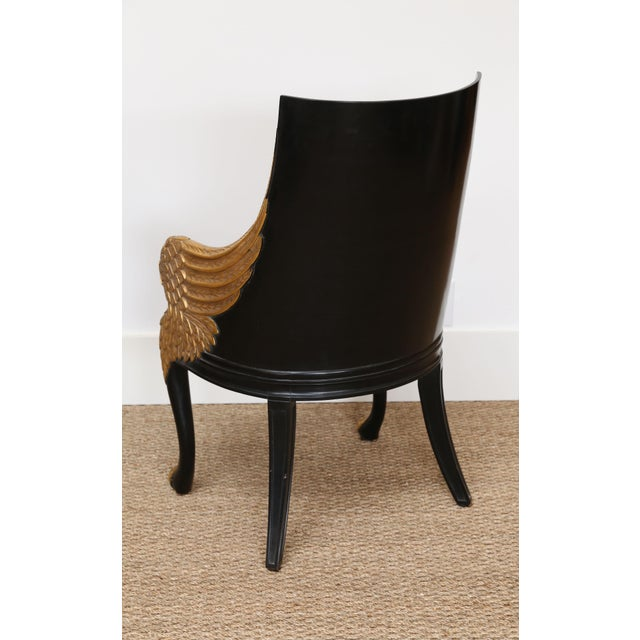 French Empire Armchairs Upholstered in Clarence House Tiger Velvet - a Pair For Sale - Image 9 of 11