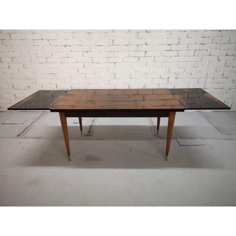 Mid-Century Modern Mid-Century Modern Danish Draw Leaf Expanding Dining Table For Sale - Image 3 of 13