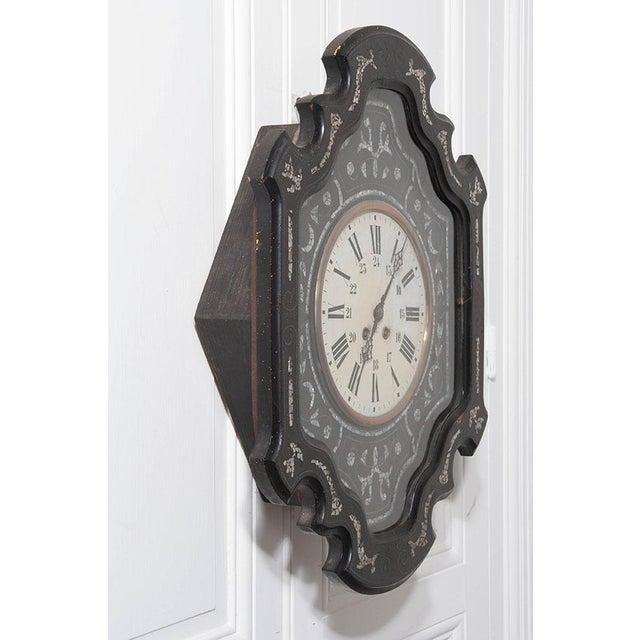 French 19th Century Ebony Napoleon III Wall Clock - Image 6 of 7