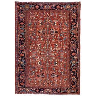 1900s, Handmade Antique Persian Heriz Rug For Sale
