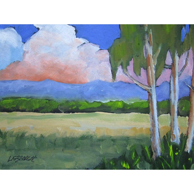 Original Salinas Valley California landscape oil paintin Eucalyptus & Summer Clouds by Lynne French. The signed painting...