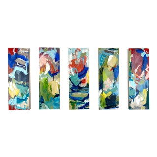 """""""Around the World and Back"""" by Gina Cochran Original Abstract Painting For Sale"""