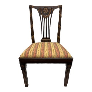 18th Century Neoclassical Italian Carved and Parcel-Gilt Side Chair For Sale