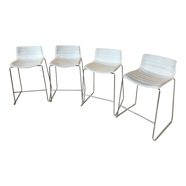 Arper Catifa 46 Sled Low Back Counter Stools - Set of 4 For Sale