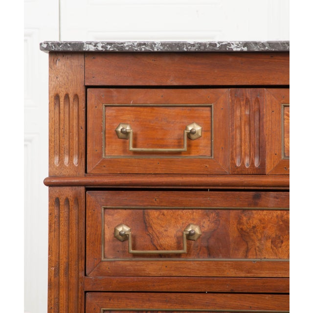 French Early 19th Century Louis XVI Style Walnut Commode For Sale In Baton Rouge - Image 6 of 12