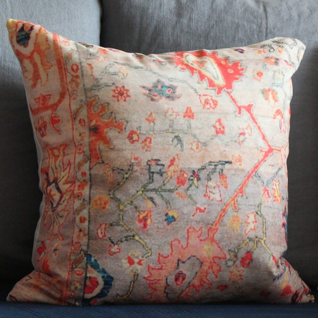 Vintage Multi-Colored Pillow Cover-16'' For Sale - Image 4 of 6