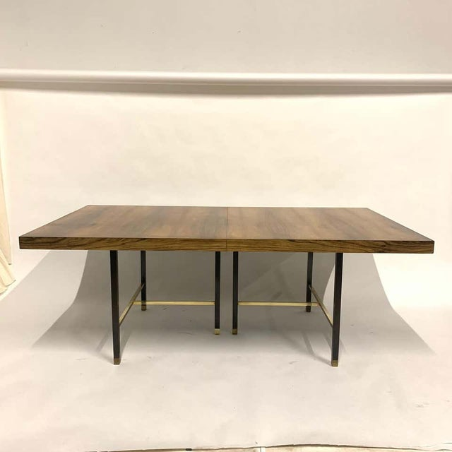 Harvey Probber Sculptural Floating Dining Table in Rosewood, Brass and Mahogany For Sale - Image 10 of 13