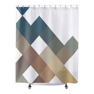 Modern Geometric Shower Curtain For Sale
