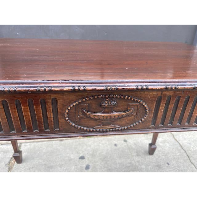 Fine 19th C. English / Irish Mahogony Tea Table For Sale - Image 9 of 12
