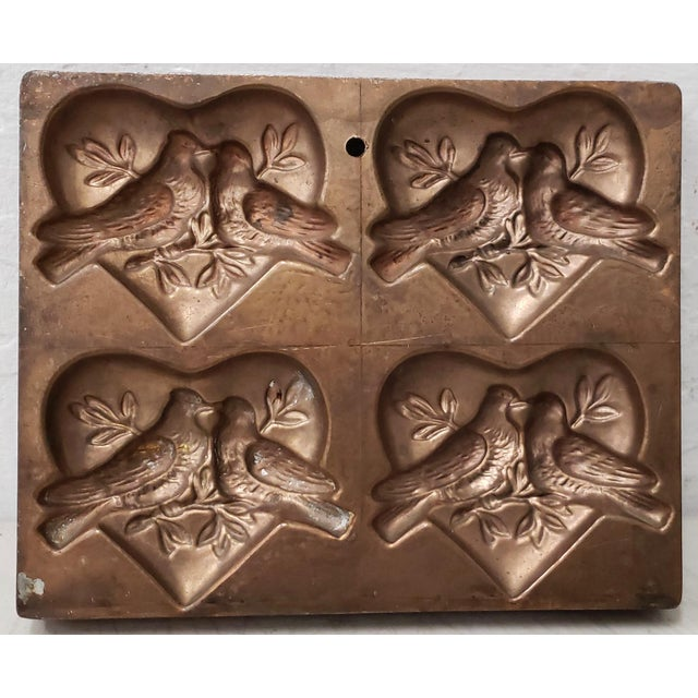 """Antique t.c. Weygandt Co. """"Love Birds"""" Chocolate Mold For Sale In San Francisco - Image 6 of 6"""
