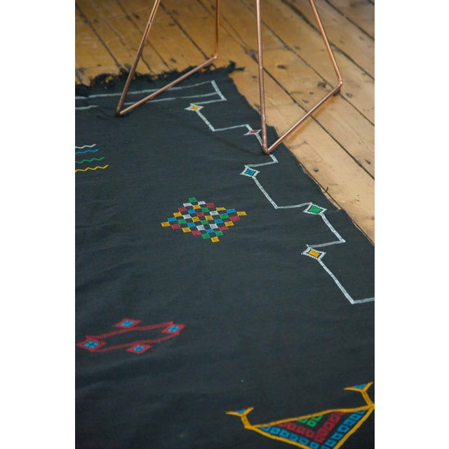 Turquoise New Kilim Carpet - 6' X 9' For Sale - Image 8 of 9