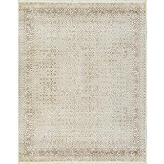 """Transitional Hand Woven Rug - 7'10"""" X 9'10"""" For Sale"""