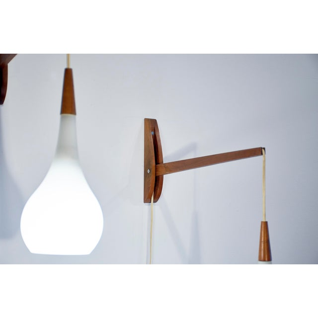 1950s Vintage Mid-Century Modern Adjustable Wall Sconces - a Pair For Sale - Image 10 of 11
