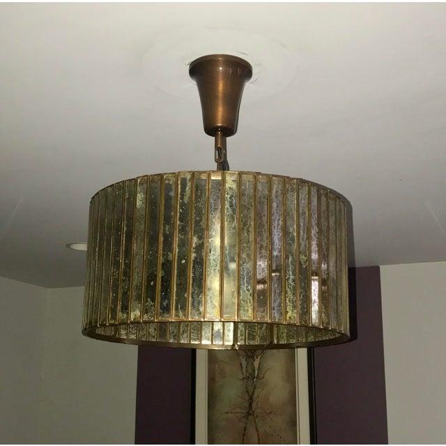 Restoration Hardware Vitti Mirrored Drum Chandelier For Sale - Image 4 of 4