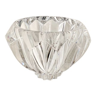 """Orrefors Zodiac Clear Modern 6"""" Crystal Bowl / Candy Dish For Sale"""