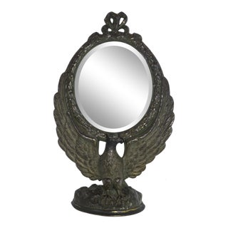 Antique Cast Iron Shaving Mirror