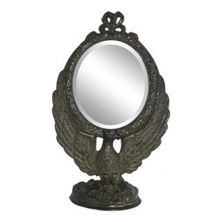 Antique Cast Iron Shaving Mirror For Sale