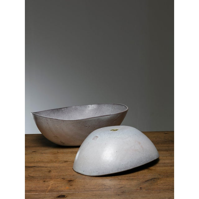 Mid-Century Modern Rare Set of Two Ceramic Bowls by Alessio Tasca For Sale - Image 3 of 5