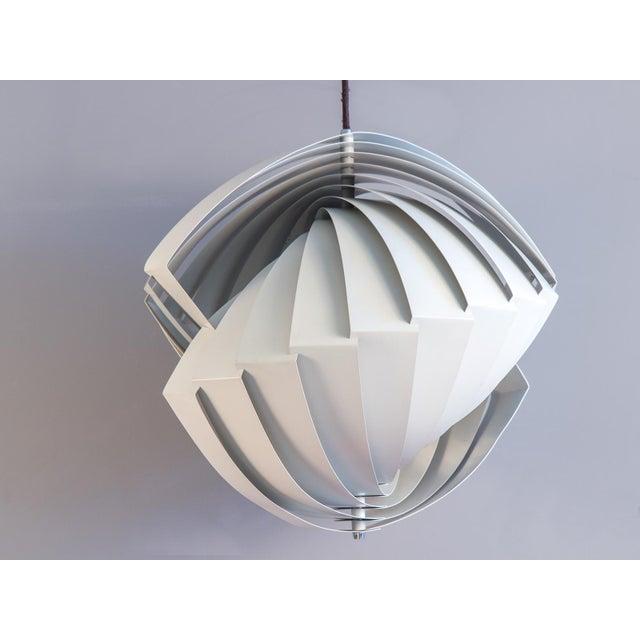 Metal Danish Konkylie Sculptural Pendant Light by Louis Weisdorf For Sale - Image 7 of 7