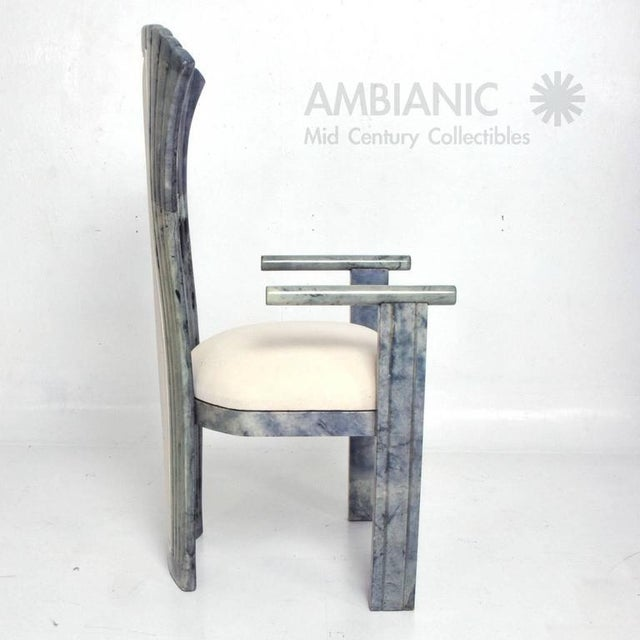 Animal Skin Set of 10 Goatskin Parchment Dining Chairs For Sale - Image 7 of 8