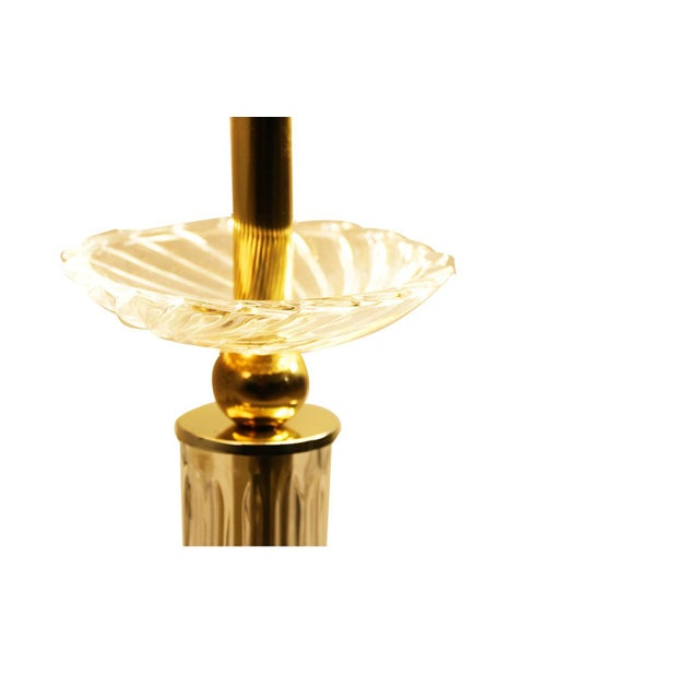 Bauer Lamp Company Lucite Brass and Glass Table Lamp For Sale - Image 11 of 12