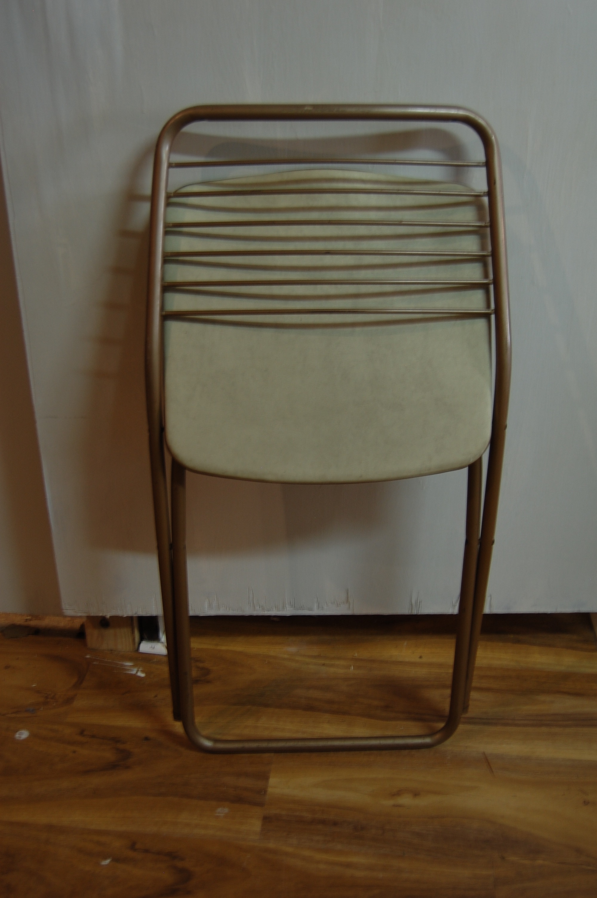 Brown Vintage Stylaire Metal Folding Chairs - 4 For Sale - Image 8 of 9  sc 1 st  Chairish & Vintage Stylaire Metal Folding Chairs - 4 | Chairish