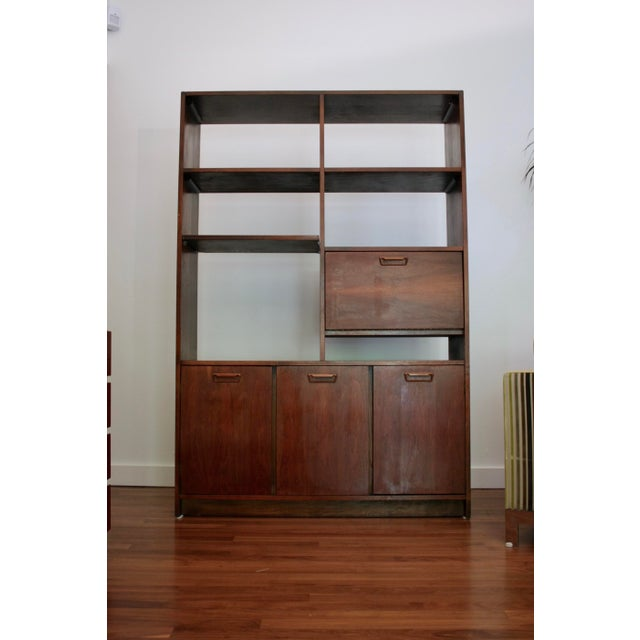 Danish Modern Room Divider Bookcase in Walnut For Sale - Image 13 of 13