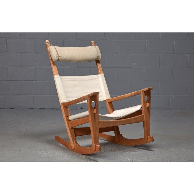Hans Wegner Hans Wegner Keyhole Rocking Chair For Sale - Image 4 of 4