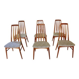 Niels Koefoed Danish Modern Teak Eva Dining Chairs - Set of 6