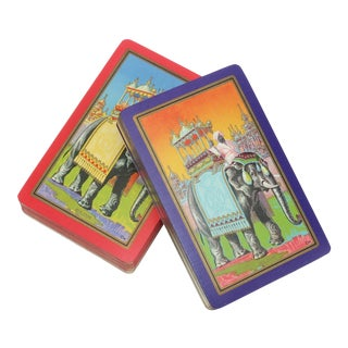 Andrew Dougherty Rajah Playing Cards With Elephant Motif, 1920's For Sale