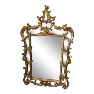 Italian Gilded Wall Mirror For Sale