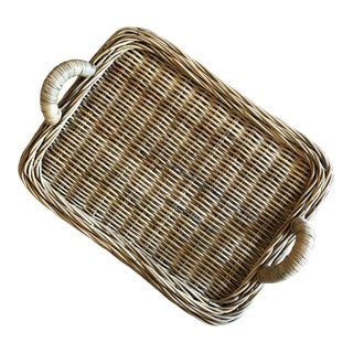 Serena & Lily Woven Wicker Tray For Sale