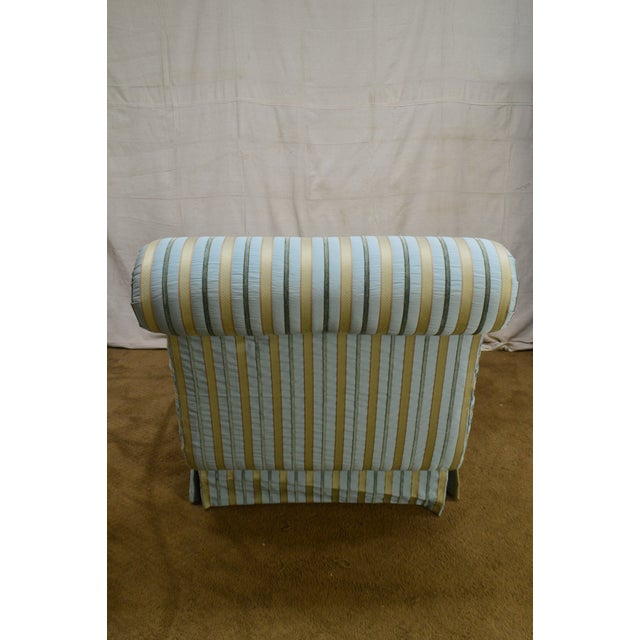 Cox Quality Upholstered Recamier Chaise Lounge For Sale - Image 9 of 12